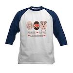 Peace Love Lacrosse Kids Baseball Jersey