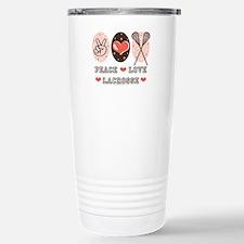 Peace Love Lacrosse Travel Mug