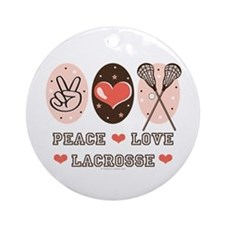 Peace Love Lacrosse Ornament (Round)