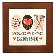 Peace Love Lacrosse Framed Tile