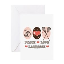 Peace Love Lacrosse Greeting Card