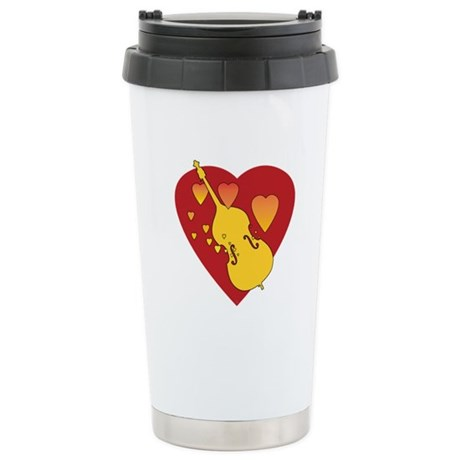 Double Bass Heartsong Stainless Steel Travel Mug