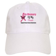In Memory Cousin Breast Cancer Baseball Cap