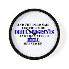 Drill Sergeants Wall Clock