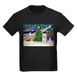 XmasMagic/TibetanTer(W) Kids Dark T-Shirt