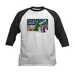 XmasMagic/TibetanTerriers Kids Baseball Jersey