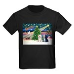 XmasMagic/TibetanTerriers Kids Dark T-Shirt