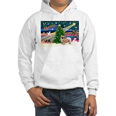 XmasMagic/Tibetan Spaniel Hoodie