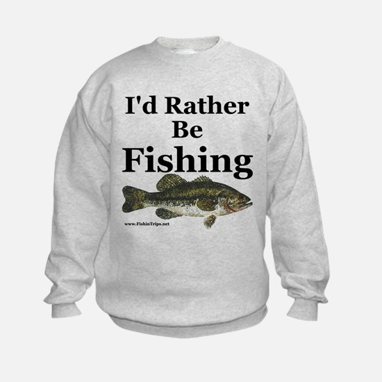 "Kids ""Rather Be Fishing"" Bass Sweatshirt"
