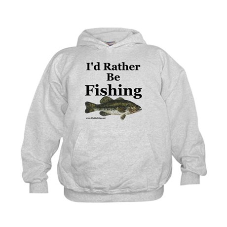 I 39 d rather be fishing bas kids hoodie kids rather be for Bass fishing hoodies
