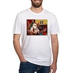 Santa/Tibetan Spaniel Fitted T-Shirt