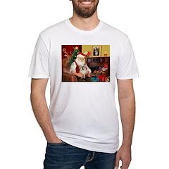 Santa/Tibetan Spaniel Shirt