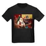Santa/Tibetan Spaniel Kids Dark T-Shirt