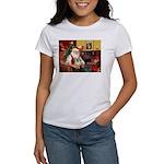 Santa/Tibetan Spaniel Women's T-Shirt