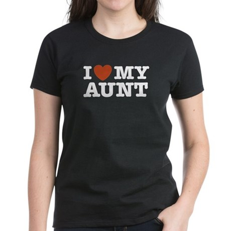 I Love My Aunt Women's Dark T-Shirt