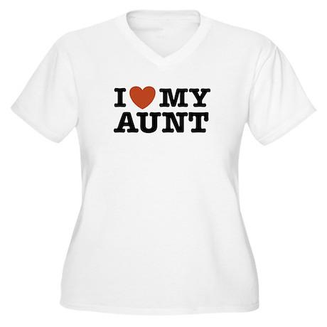 I Love My Aunt Women's Plus Size V-Neck T-Shirt