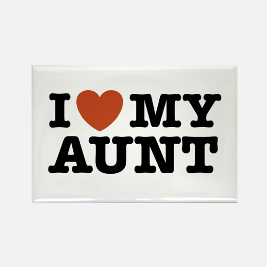 I Love My Aunt Rectangle Magnet