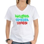 Imagine Create Write Women's V-Neck T-Shirt