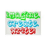 Imagine Create Write Rectangle Magnet