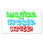 Imagine Create Write Rectangle Sticker