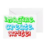 Imagine Create Write Greeting Card