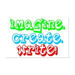 Imagine Create Write Mini Poster Print
