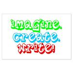 Imagine Create Write Large Poster