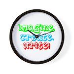 Imagine Create Write Wall Clock