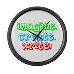 Imagine Create Write Large Wall Clock