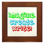Imagine Create Write Framed Tile