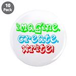 "Imagine Create Write 3.5"" Button (10 pack)"