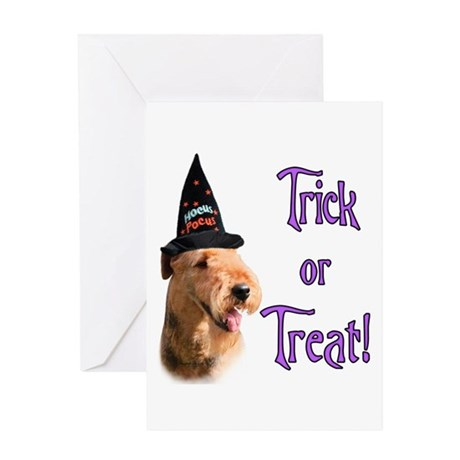 Airedale Trick Greeting Card
