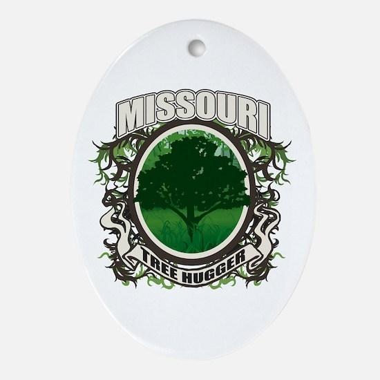 Tree Hugger Missouri Oval Ornament