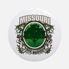 Tree Hugger Missouri Ornament (Round)