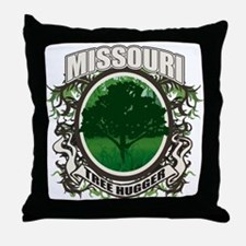 Tree Hugger Missouri Throw Pillow