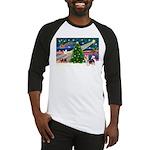 Xmas Magic & Silky Terrier Baseball Jersey