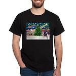 Xmas Magic & Silky Terrier Dark T-Shirt