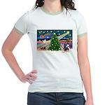 Xmas Magic & Silky Terrier Jr. Ringer T-Shirt