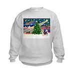 Xmas Magic & Silky Terrier Kids Sweatshirt