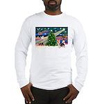 Xmas Magic & Silky Terrier Long Sleeve T-Shirt