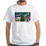 Xmas Magic & Silky Terrier White T-Shirt