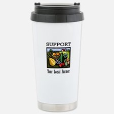 Support Your Local Farmer Stainless Steel Travel M
