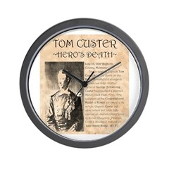 Tom Custer Wall Clock