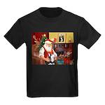 Santa's Sib Husky Kids Dark T-Shirt