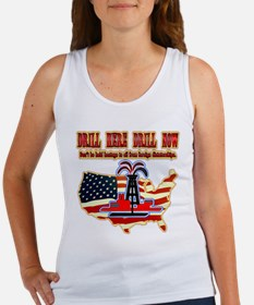 Drill here drill drill now Women's Tank Top