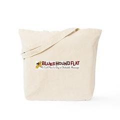 Blues Hound Flat Tote Bag