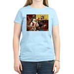 Santa's Red Husky Women's Light T-Shirt