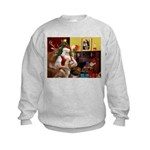 Santa's Red Husky Kids Sweatshirt