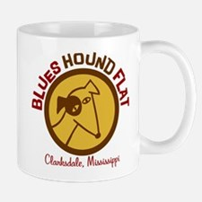Blues Hound Flat Mug