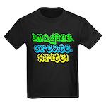 Imagine Create Write Kids Dark T-Shirt